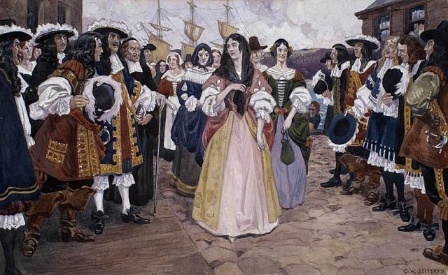 Arrivée des jeunes filles françaises à québec 1667 charles