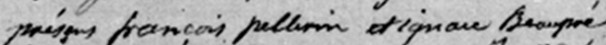 Portion of burial record