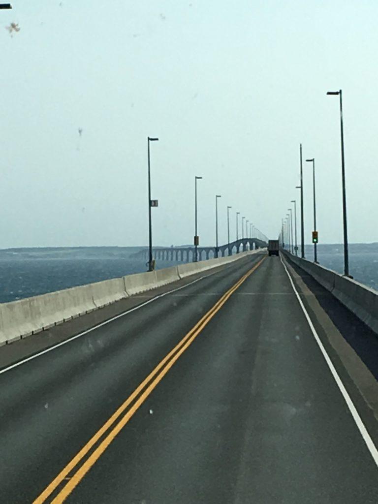 Crossing the Confederation Bridge to PEI
